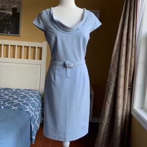 Women's Cap Sleeves Baby Blue Dress